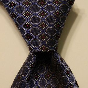 GIANNI VERSACE Men's Silk Necktie Blue/Gray EUC
